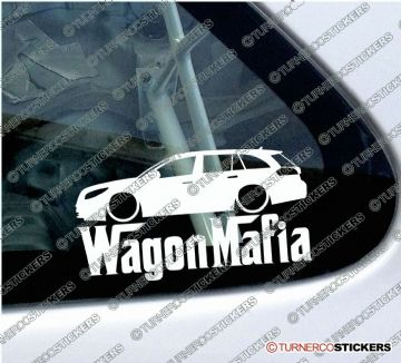 "LOW Vauxhall / Opel Insignia Sports tourer "" Wagon Mafia "" Lowered car outline stickers"